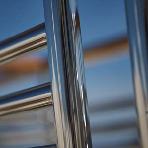 Polished Railing in Sunset