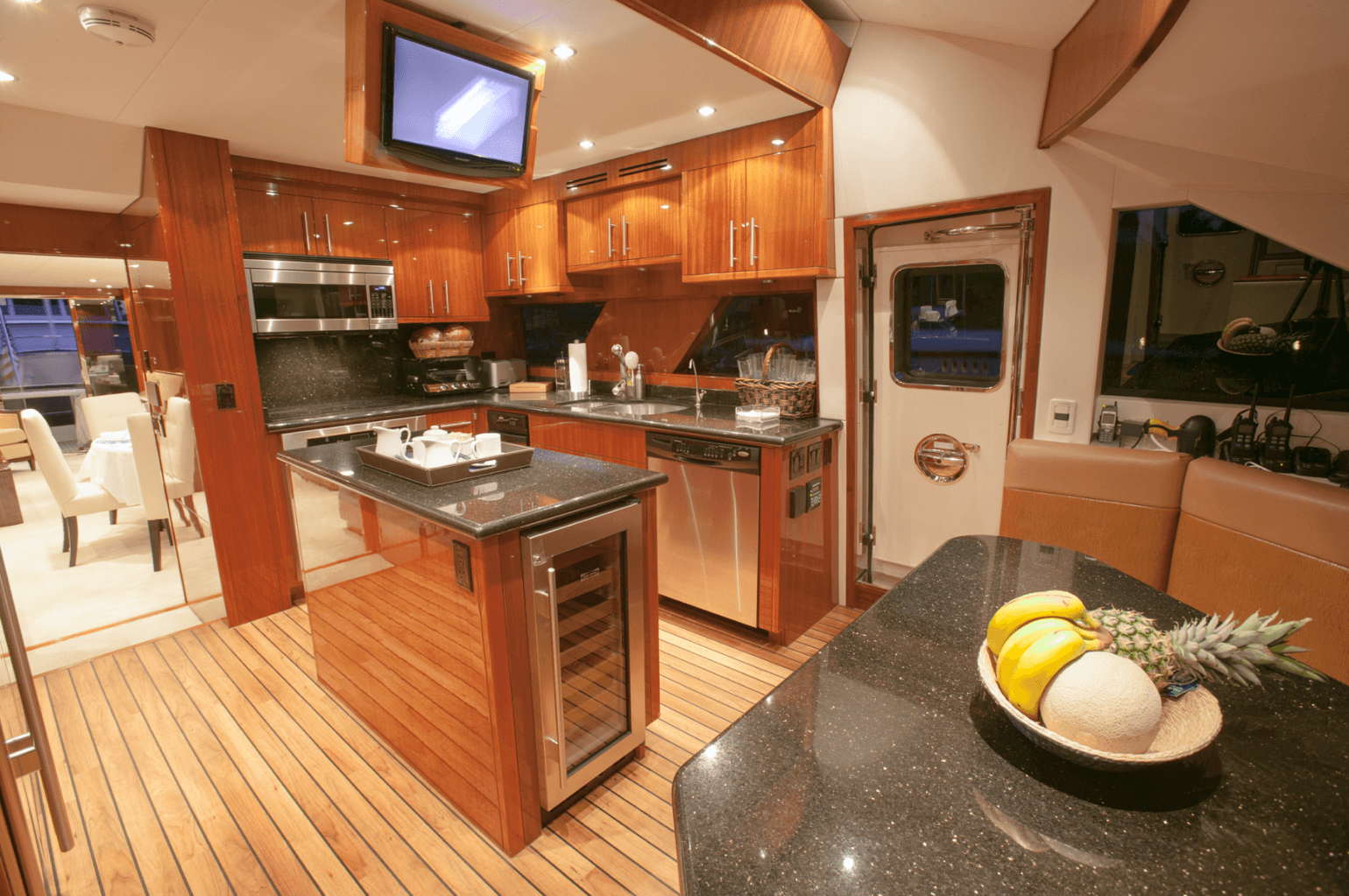 A Yacht's kitchen representing the Galley Department