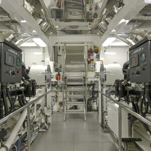 Image of an engine room representing Engineering department